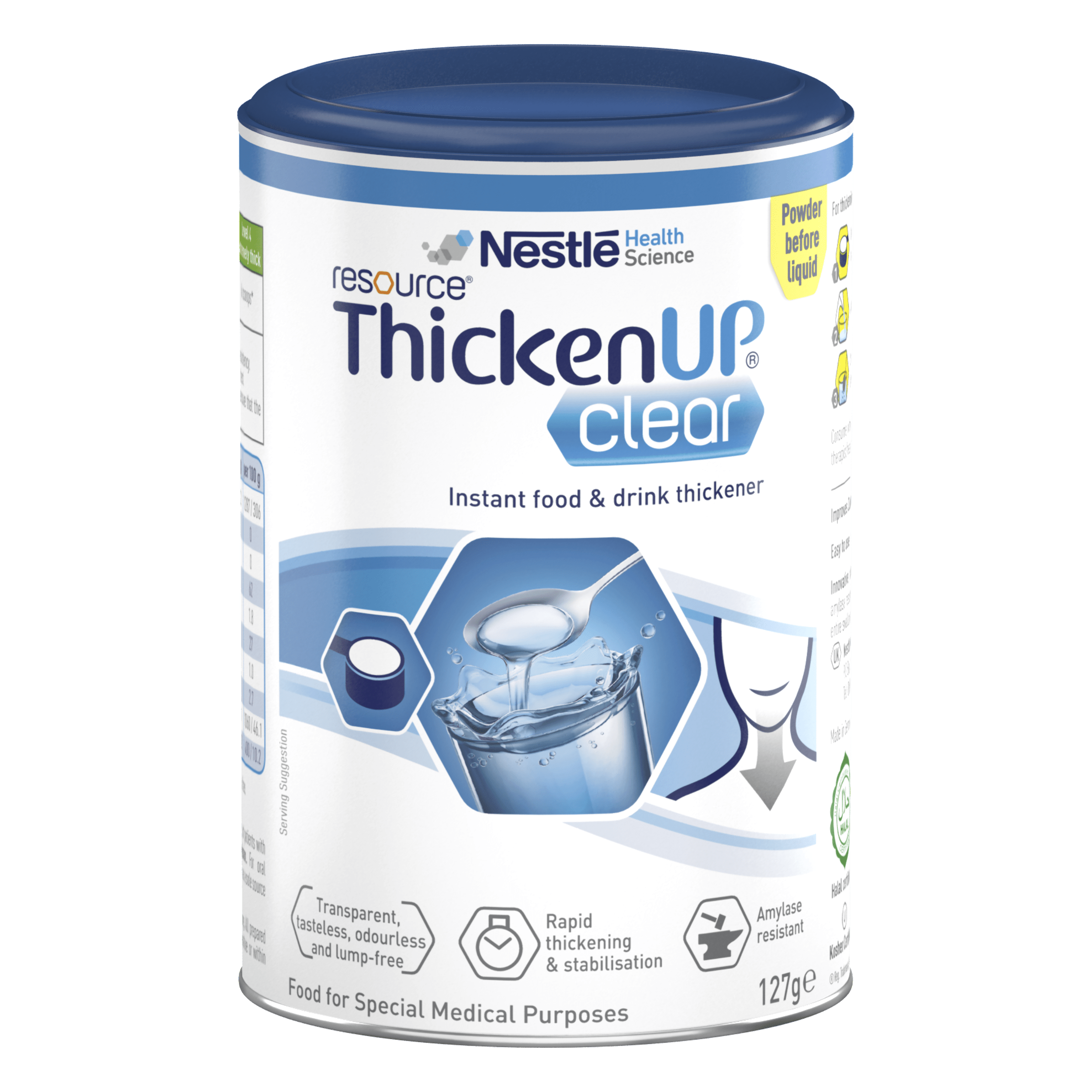 Nestle Resource ThickenUpClear in 127g tin